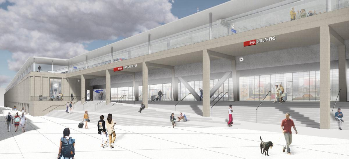CFF_Façade_sud_Gare de Lausanne