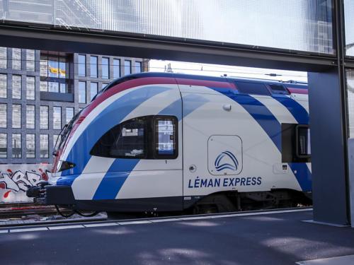 Le Léman Express est inauguré jeudi lors de trois cérémonies à Coppet (VD), la Roche-sur-Foron (F) et Genève-Eaux-Vives. (Le Léman Express est inauguré jeudi lors de trois cérémonies à Coppet (VD), la Roche-sur-Foron (F) et Genève-Eaux-Vives. (©KEYSTONE/SALVATORE DI NOLFI))